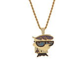 Cartoon Dexter Jewelry CZ Diamond Dexter Lab Chain Supreme Necklace Hip Hop Rapper Bling Dexter 24in
