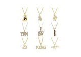 Cartoon Jewelry Praying Hands Gold Color Metal Alloy Simulated Diamond Pill Chain Bart Supreme YRN Necklace Hip Hop Bling AK-47 23