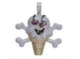 Zirconia Silver Bling Diamond Ice Cream Chain Iced Out Jewelry Emoji Gucci Necklace Icecream 24in