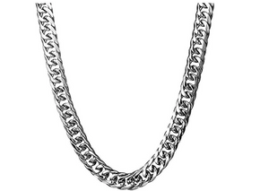 Silver Miami Cuban Link Curb Chain Hip Hop Jewelry Necklace Stainless Steel 16MM 24in.