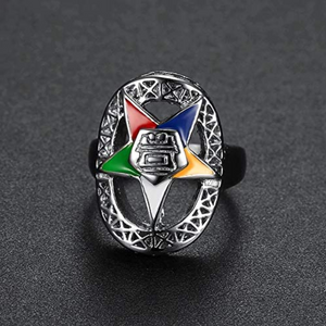 Order of The Eastern Star Ring Masonic Gift Silver Sisterhood Ring OES Accessory Women Mason Jewelry