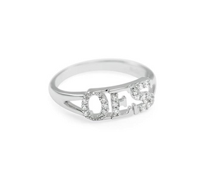 OES Ring Diamond Masonic Gift Order of The Eastern Star Silver Sisterhood Women Mason Jewelry