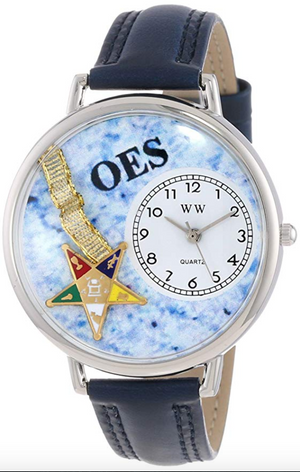 Leather Band Watch OES Gift Necklace Earrings Masonic Jewelry Order of The Eastern Star Women Mason
