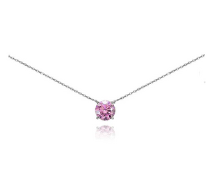 925 Sterling Silver Solitaire Choker Necklace Breeze Simulated Diamond Anniversary Gift 20in.