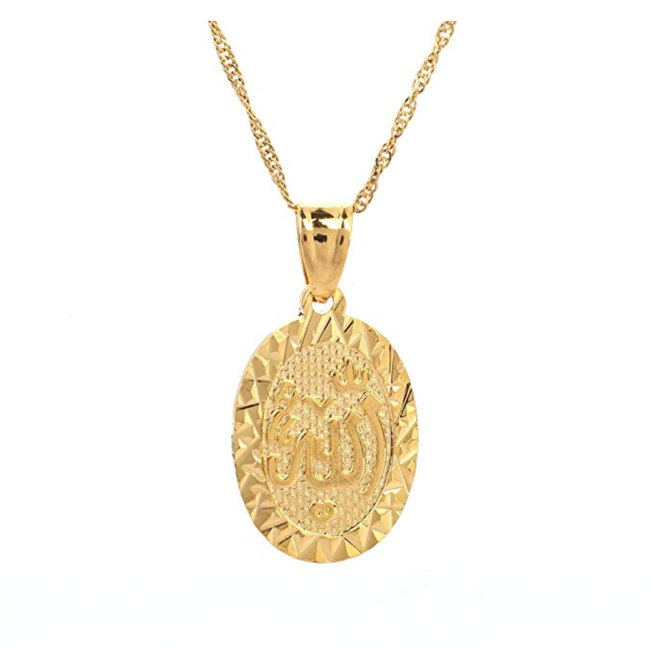 Allah Gold Necklace Islamic Holy Jewelry Allah Gift Muslim Gold Chain