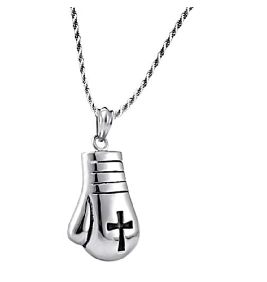 Silver Necklace Boxing Gloves Boxing Jewelry Bonnie Silver Boxing Gloves Chain