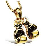 Boxing Gloves Necklace Gold Silver Color Metal Alloy Boxing Gloves Chain Boxing Jewelry 24in.