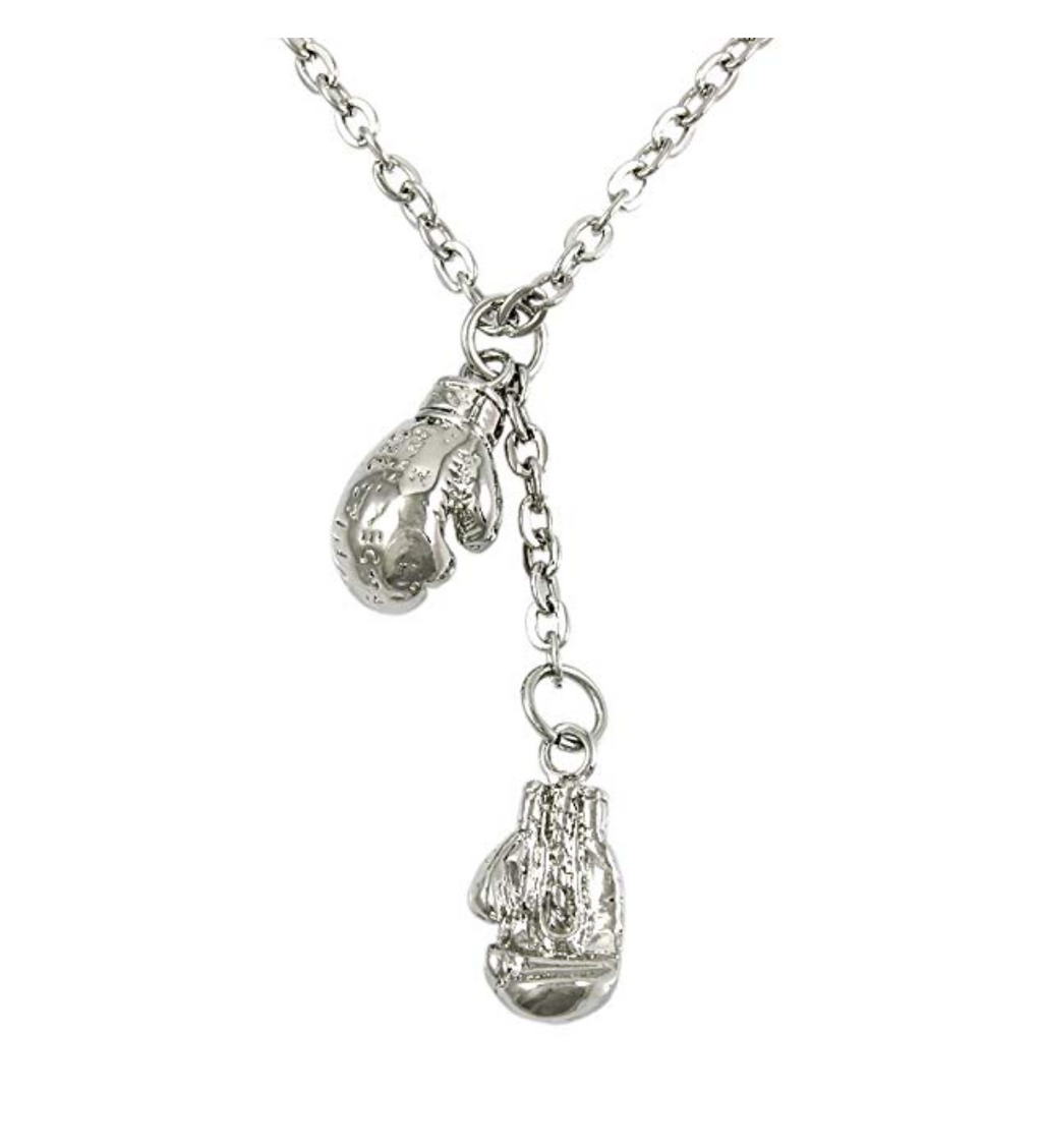 Silver Boxing Gloves Chain Boxing Jewelry Boxing Glove Necklace Gold Boxing Gloves Silver