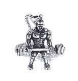 Mr. Olympia Chain Gym Bodybuilding Chain Strongman Necklace Exercise Workout Pendant 24in.