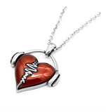 I Love Music Headphone Heart Music Necklace Musical Chain Music Heartbeat Music Love 19in.