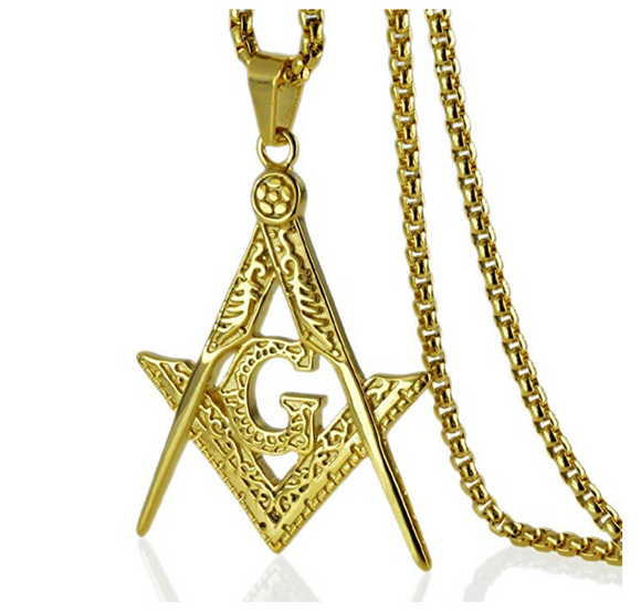 Freemason Gold Color Chain Masonic Silver Necklace Gift Masonic Regalia Jewelry G Pendant
