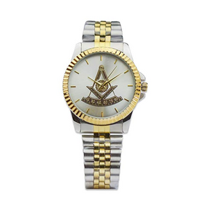 Gold & Silver Past Master Mason Watch Freemason Gift Masonic Jewelry Regalia Square & Compass