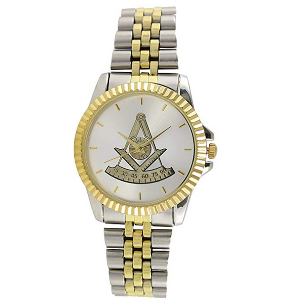 Gold Silver Color Past Master Mason Watch Freemason Gift Masonic Jewelry Regalia Square & Compass