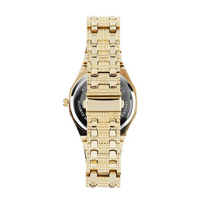45mm Gold Diamond Octagonal Watch AP Bust Down Hip Hop Silver Watch Iced Out Luxury Bling