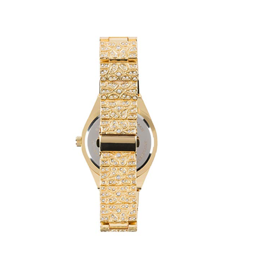 Gold Nugget Diamond Watch Hip Hop Iced Out Silver Bling Jewelry Watch Gift