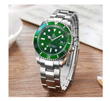 Green Hulk Watch Silver Color Sports Dress Watch Luxury Business Watch Quartz Pepsi Batman Submariner