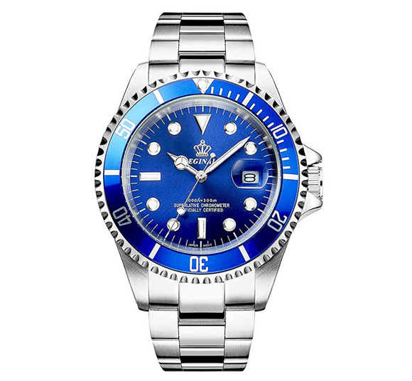 Blue Face Watch Silver Color Sports Dress Watch Luxury Business Green Hulk Watch Quartz Batman Pepsi Submariner