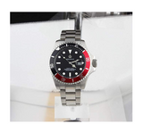 Silver Color Watch Black & Red Sports Dress Watch Luxury Business Pepsi Watch Batman  Hulk Submariner