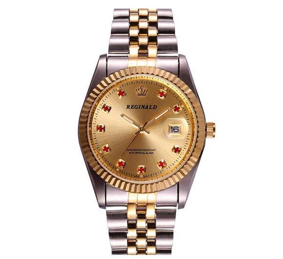 Gold Dial Dress Watch Gold Silver Color Watch Diamond Dial Oyster Watch 2-Tone Datejust Dress Watch Gift