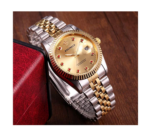 Gold Face Dress Watch Gold & Silver Watch Diamond Dial Oyster Watch 2-Tone Datejust Dress Watch Gift