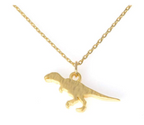 Dinosaur Necklace Dinosaur Pendant Chain T-rex Jewelry Tyrannosaurus Triceratops Necklace Gift 18in.