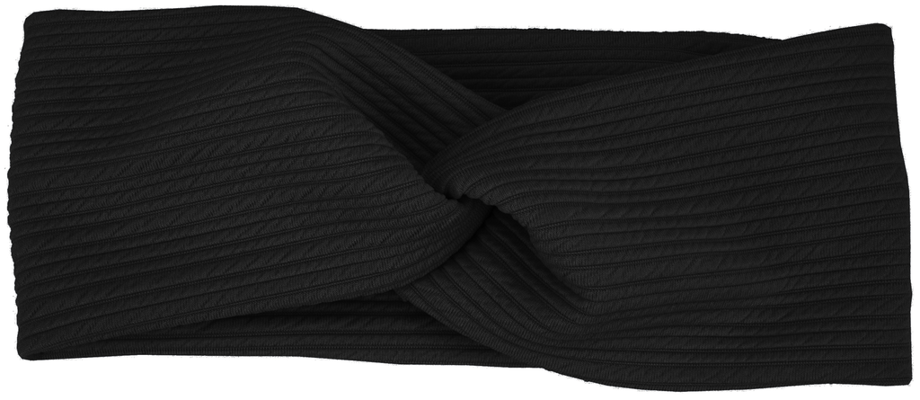 Knit Fabric Headband Black