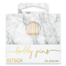 White Marble Matchbook Bobby Pins
