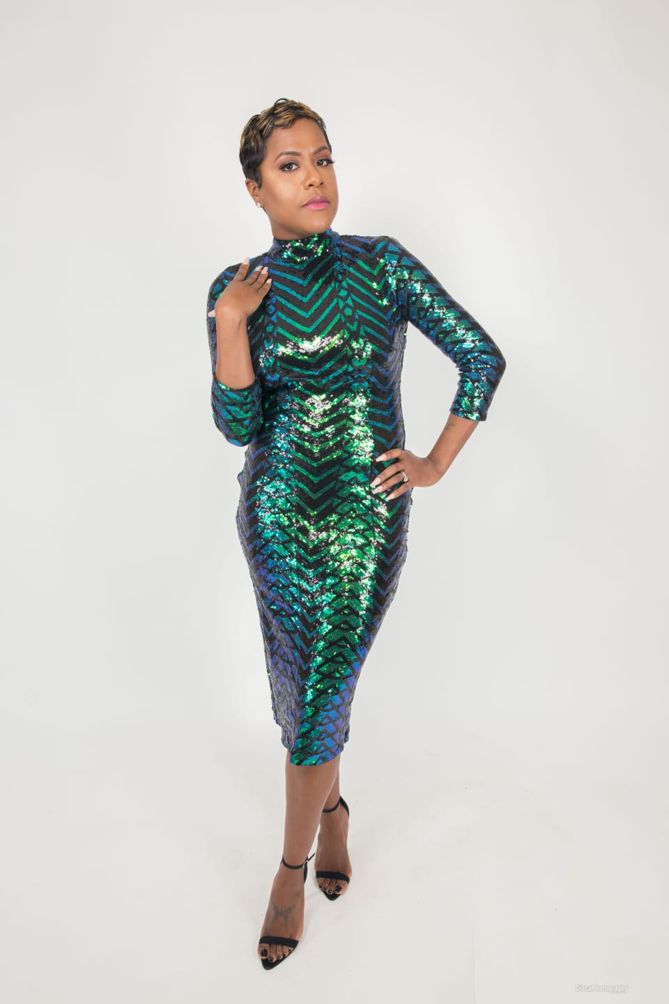 Emerald Sequin Midi