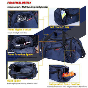 Professional Sports Gym Bag with separate Shoes Storage. High quality Waterproof Bag from Etto for pro's.