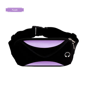 Running waist bag with waterproof phone holder