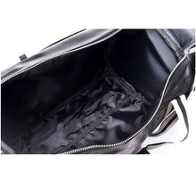 Load image into Gallery viewer, Large leather gym bag with shoes storage