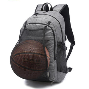 Outdoor gym and basketball bag