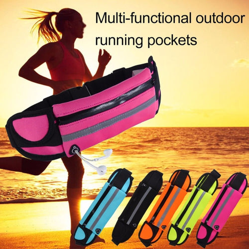Running waist belt in multiple colors