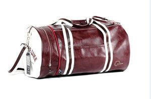 Large leather gym bag with shoes storage