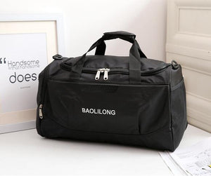 Waterproof gym bag with shoes pocket