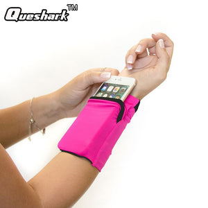 Double sided wrist pouch for running and gym