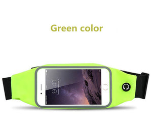 Sweatproof gym and running waist belt for iPhone
