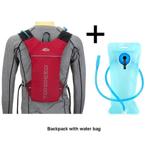 Hydration backpack for running and outdoor