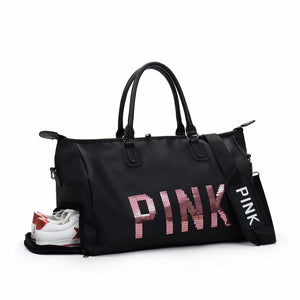 Cute sequin gym and yoga bag