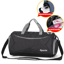 Load image into Gallery viewer, Fitness Gym Bags or Yoga Bag with Shoes Pocket