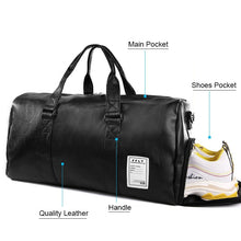 Load image into Gallery viewer, Stylish PU leather gym and yoga bag