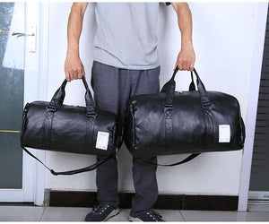 Stylish PU leather gym and yoga bag