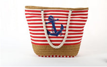 Load image into Gallery viewer, Anchor beach bag (multiple designs)