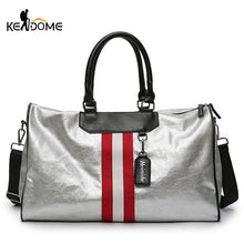 Load image into Gallery viewer, Cool silver gym bag
