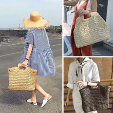 Load image into Gallery viewer, Knitted bohemian beach bag