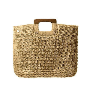 Knitted bohemian beach bag