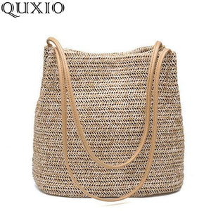 Quxio straw beach bag