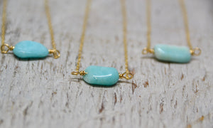Amazonite Necklace 14k Gold Filled |Made to Order|