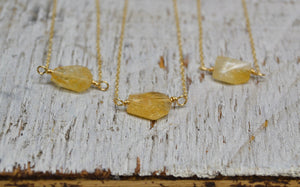 Citrine Necklace 14k Gold Filled ||Made to Order||