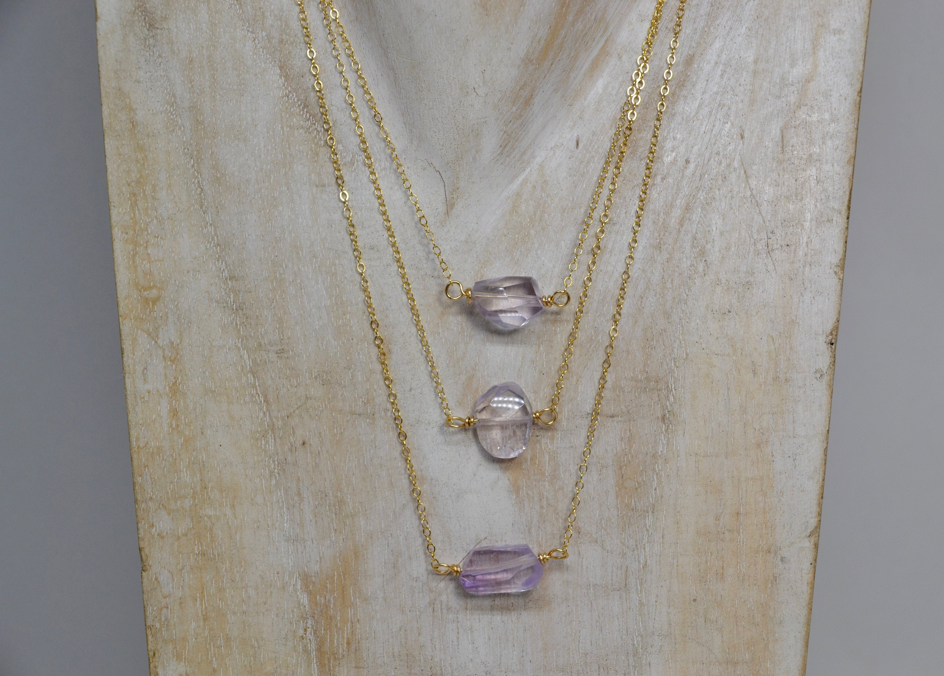 Amethyst Necklace 14k Gold Filled |Made to Order|